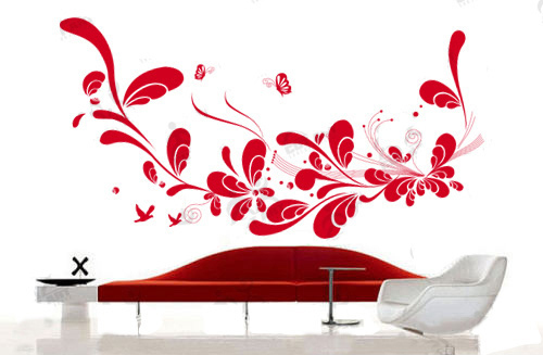 dark red removable vinyl wall sticker Australia