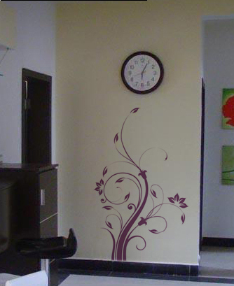 brown/pink removable thick vinyl wall sticker Australia