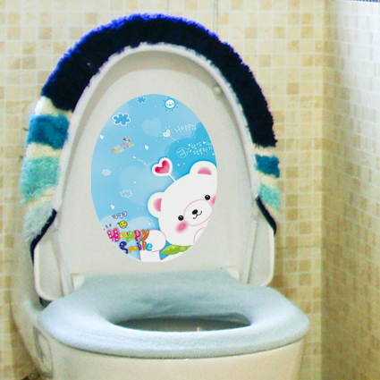 kid's loo sticker / toilet sticker - removable & waterproof