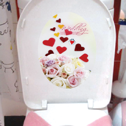 "Loo sticker / Toilet sticker - removable & waterproof ""wedding"""
