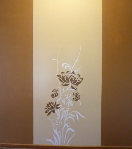 purple/orange + white removable vinyl wall sticker Australia